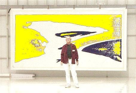 "ENTER (Ture Sjolander 17 September 2003  ""Time"" on canvas 520 x 270 cm)"